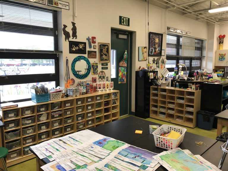 Middle School Art Classroom
