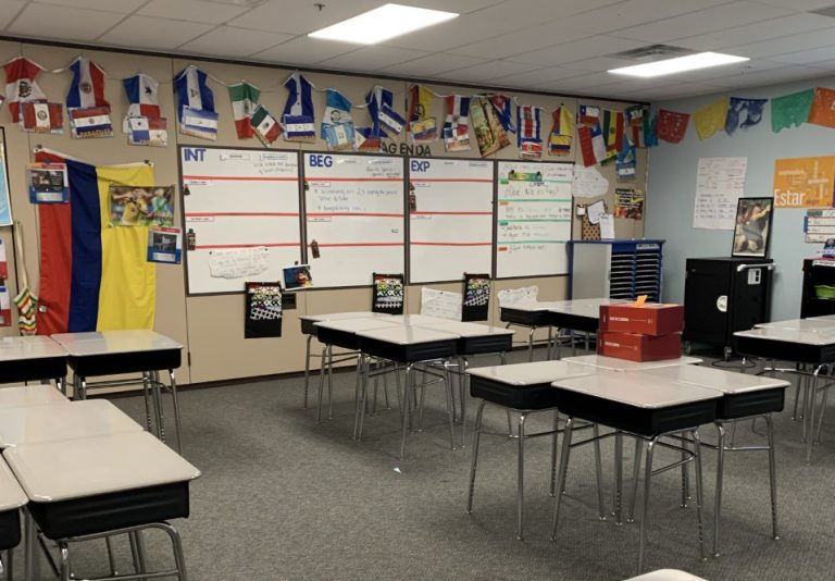Middle School Spanish Classroom
